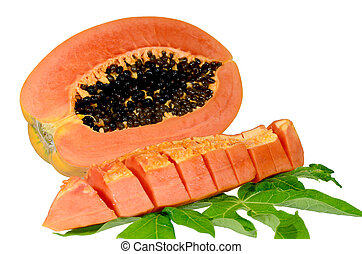 dulce, papaya, isolate.