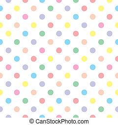 dulce, patrón, puntos, seamless, vector