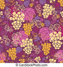 dulce, uva, vides, seamless, patrón, plano de fondo