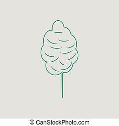 dulces algodón, icono