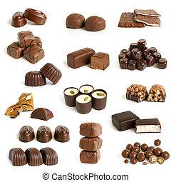 dulces, colección, chocolate