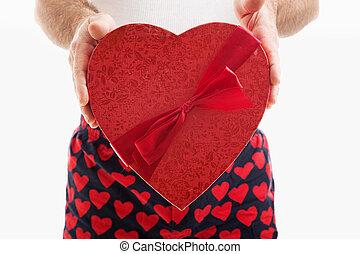 dulces valentino, corazón, regalo