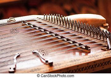 dulcimer - Old stringed musical instrument Ukraine