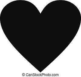Dull heart icon, simple style. - Dull heart icon. Simple...