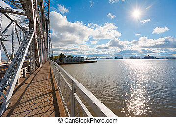 Duluth Harbor Basin on Lake Superior, Duluth Minnesota. From...