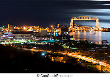 duluth, notte, minnesota, tempo