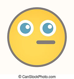 Dumb - Cartoon Smiley Vector Face