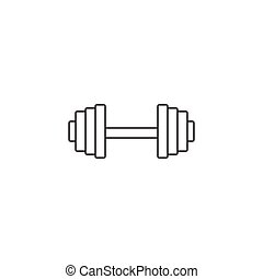 Dumbbel line icon, gym tool, vector graphics