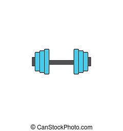 Dumbbel solid icon, gym tool, vector graphics