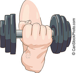 Dumbbell. Vector illustration.