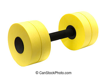 Dumbbell for aqua aerobic isolated on white (with clipping...