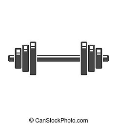 Dumbbell Icon on White Background. Vector