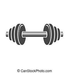 Dumbbell Icon on White Background. Vector illustration