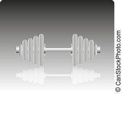 Dumbbell icon, vector illustration.