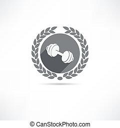 dumbbell, icono