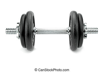 Dumbbell isolated on white background.