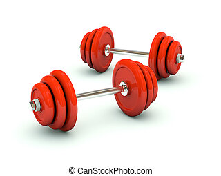 Dumbbell isolated on white