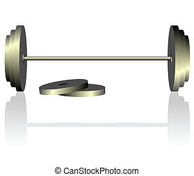 Dumbbell - Realistic vector illustration of dumbbell is...