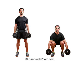dumbbell, squat