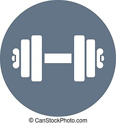 dumbbell, vector, icono