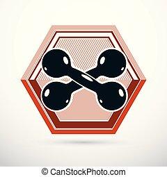 Dumbbell vector illustration, fitness and cross fit sport ...