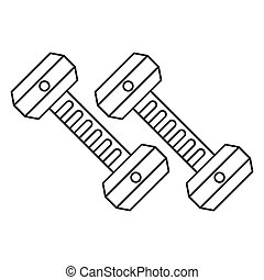 dumbbell weight gym equipment outline