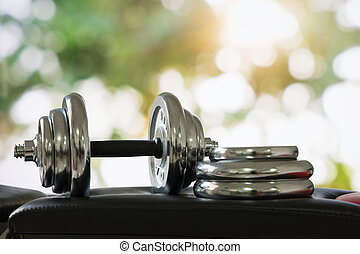 Dumbbell, weight training equipment