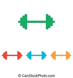 Dumbbell weights sign