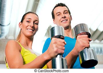 dumbbells, 訓練, 體操