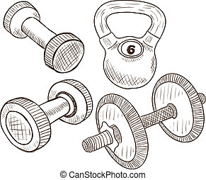 Dumbbells doodles