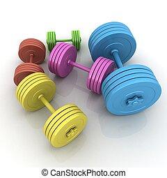 dumbbells, fitness