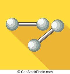 Dumbbells icon, flat style