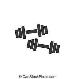 Dumbbells icon isolated on white background vector