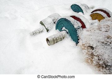Dumbbells On Snow