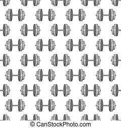 Dumbbells seamless pattern