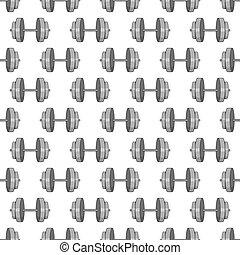 Dumbbells seamless pattern