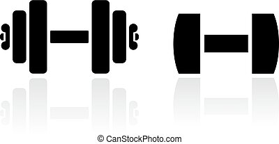 Dumbbells vector icon
