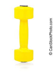 Dumbbells - Yellow one kilogram dumbbell for fitness...