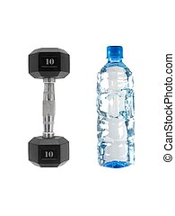 A dumbell isolated against a white background