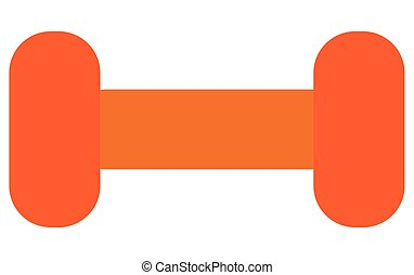 dumbell icon design - simple orange dumbell vector...