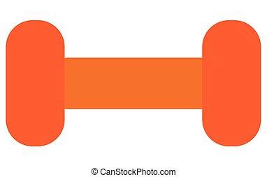 dumbell icon design - simple orange dumbell vector...