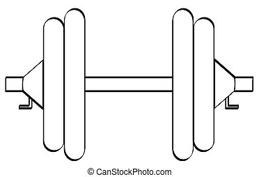 dumbell, komplet, ciężary, dwa
