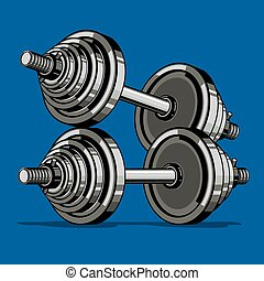 Dumbell. Vector Illustrations