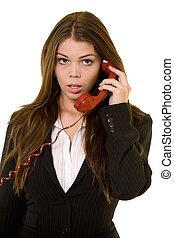 dumbfounding, chamada, telefone