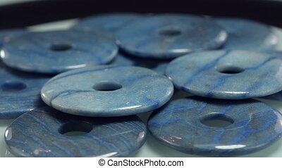 Dumortierite stone carved donuts - Dumortierite stone donuts...