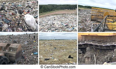 dump equipment and people