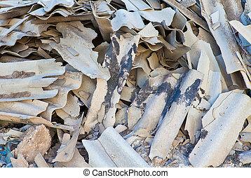 Dump of broken slate