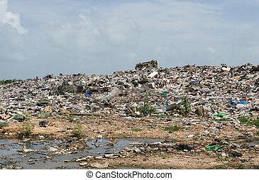 Dump Site - A disgusting dump site in Central America