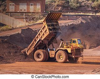 Dump truck at bauxite quarry