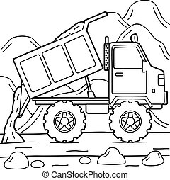Dump Truck Coloring Page